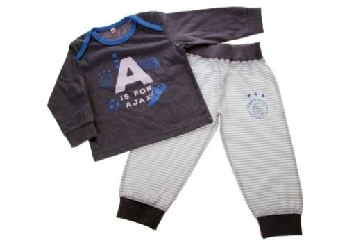 AJAX  Baby pyjama ajax blauw: A is for Ajax