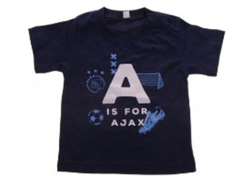 Ajax  Baby t-shirt ajax blauw: A is for Ajax