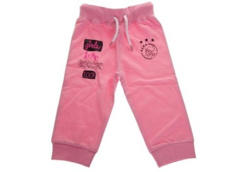 Ajax  Baby pant ajax roze: girls love soccer