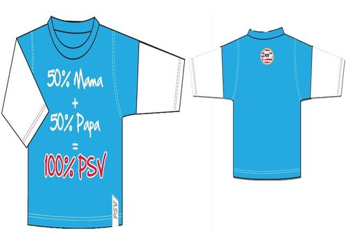 PSV Baby t-shirt psv longsleeves lichtblauw 50+50