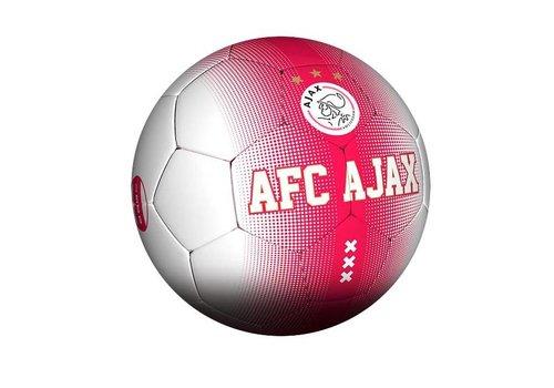 Ajax  Bal ajax leer middel rood/wit spikkel