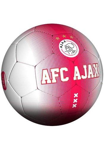 AJAX  Bal ajax leer groot rood/wit spikkel
