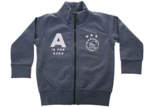 Ajax  Baby baseball jacket blauw: A is for Ajax