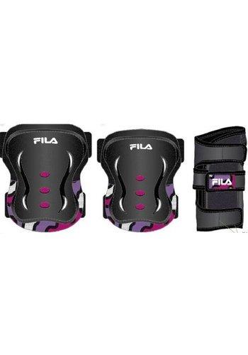 Beschermset Fila junior zwart/roze (615970)
