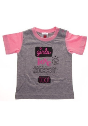 AJAX  Baby t-shirt ajax roze: girls love soccer