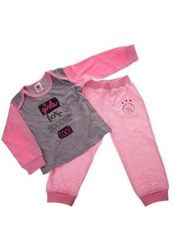 AJAX  Baby pyjama ajax roze: girls love soccer