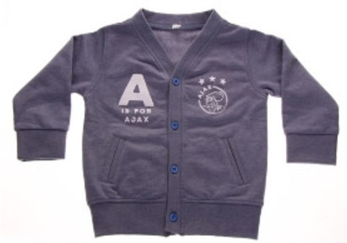 Ajax  Baby vestje ajax blauw: A is for Ajax