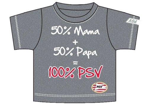 PSV Baby t-shirt psv grijs 50+50