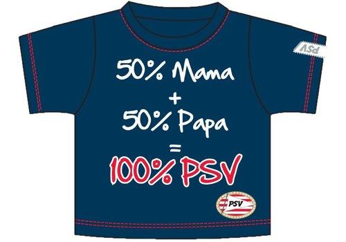 PSV Baby t-shirt psv donkerblauw: 50+50