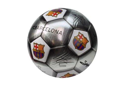 FC Barcelona Bal barcelona leer middel zilver handtekeningen SE