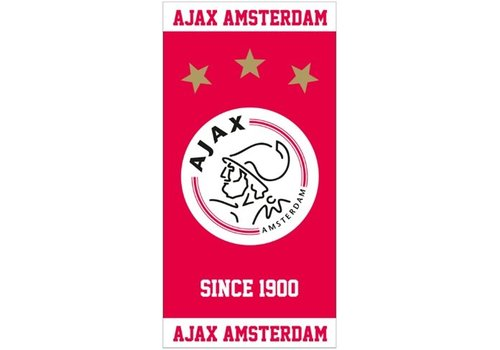 AJAX  Badlaken ajax rood/wit since 1900: 75x150 cm