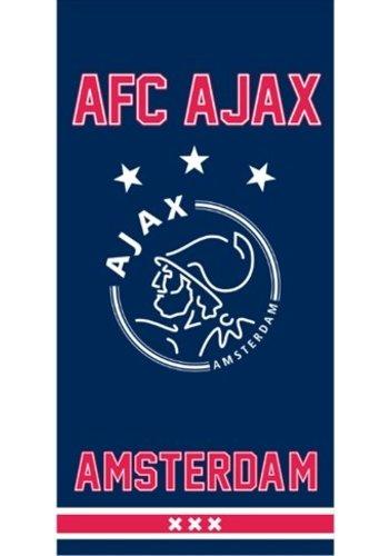 AJAX  Badlaken ajax blauw since 1900: 75x150 cm