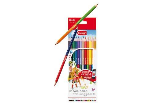 Kleurpotloden Bruynzeel: 12 stuks (7570K12B)