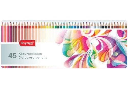 Kleurpotloden Bruynzeel kleurrijk: 45 stuks (5013M45)