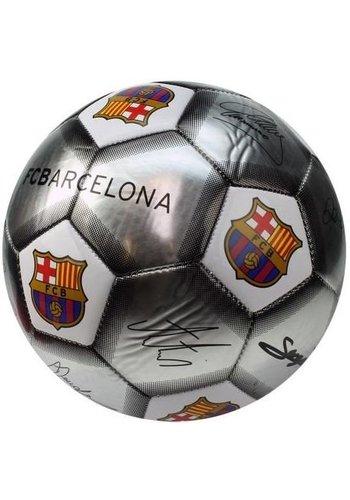 FC Barcelona Bal barcelona leer groot zilver handtekeningen SE