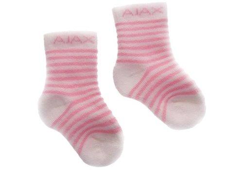 Ajax  Baby sokjes ajax roze/strepen