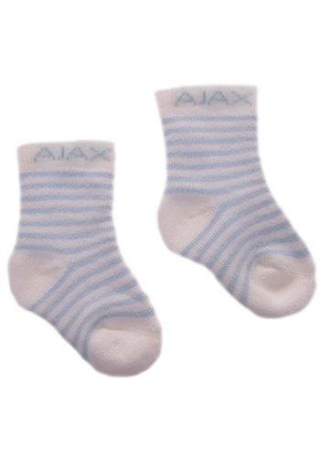 AJAX  Baby sokjes ajax blauw/strepen