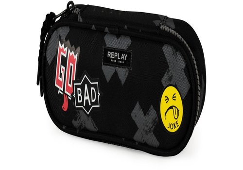 Etui Replay Boys black: 8x23x8 cm (172RPB616)