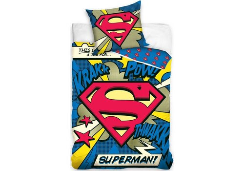 Dekbed Superman (SUP16_3001): 140x200/70x80 cm