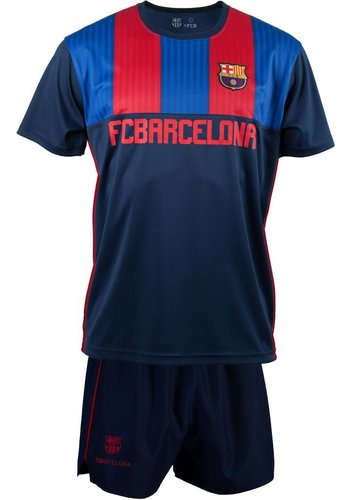 FC Barcelona T-shirt/short barcelona stripes (KMP16E)