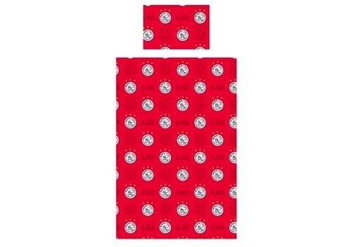 Ajax  Dekbed ajax rood all-over: 140x200/60x70 cm