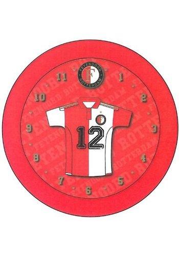 Feyenoord Klok feyenoord rood shirt