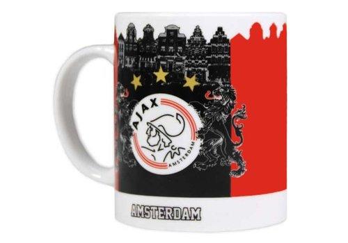 Ajax  Mok ajax rood/zwart Amsterdam