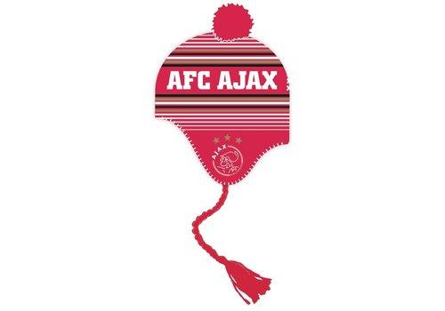 AJAX  Muts ajax junior rood/wit met flappen