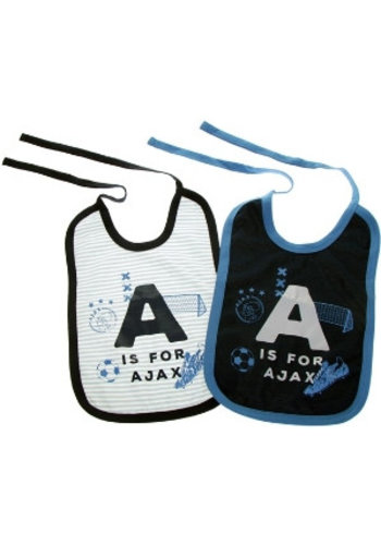 AJAX  Slabbetjes ajax 2-pack blauw: A is for Ajax