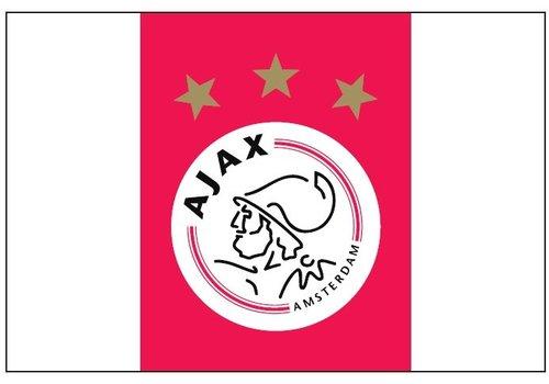Ajax  Vlag ajax groot 100x150 cm rood/wit logo