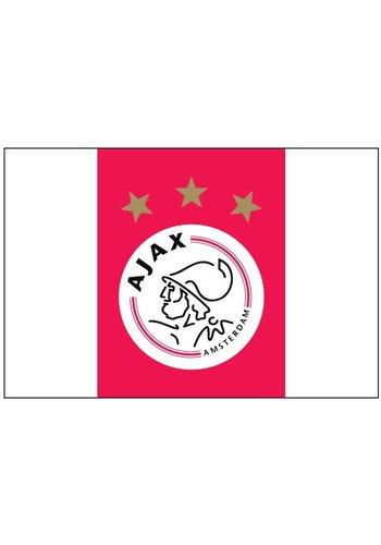 AJAX  Vlag ajax reus 150x225 cm rood/wit logo