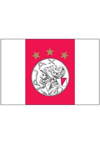 AJAX  Vlag ajax reus 150x225 cm rood/wit oude logo