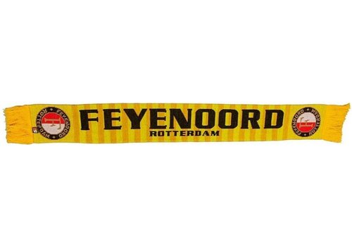 Feyenoord Sjaal feyenoord geel retro