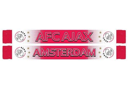 Ajax  Sjaal ajax wit/rood/wit spikkel (6565AFCAJAXWR)