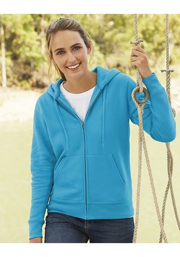 Fruit of the Loom Hooded sweater met rits Lady's