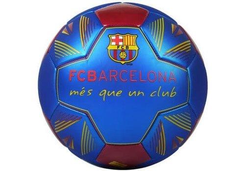 FC Barcelona Bal barcelona leer groot blauw metallic: mes que (90813)