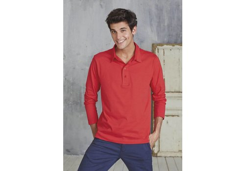 Kariban Ls Jersey Polo - Men's Long Sleeve Jersey Polo