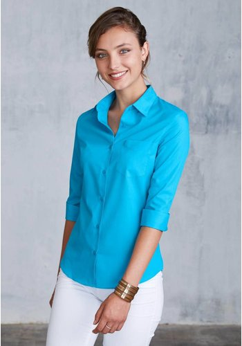 Kariban Ladies' 3/4 Sleeve Shirt