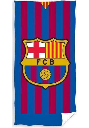 FC Barcelona Badlaken barcelona FCB stripes: 70x140 cm