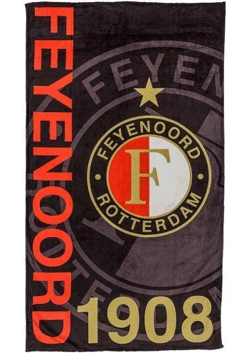 Feyenoord Strandlaken feyenoord zwart: 100x180 cm