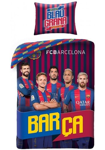 FC Barcelona Dekbed barcelona spelers (FCB8017BL): 140x200/70x90 cm