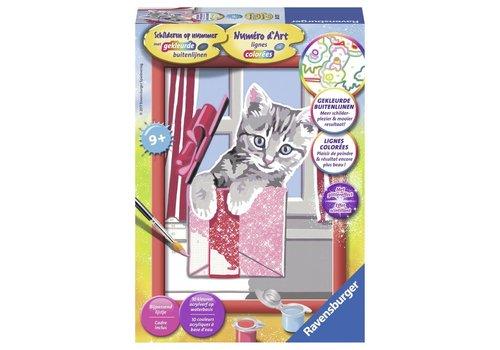 Kat cadeau Schilderen op nummer (280551)
