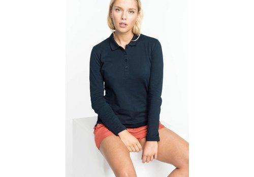 Kariban Ladies' piqué long sleeve polo shirt