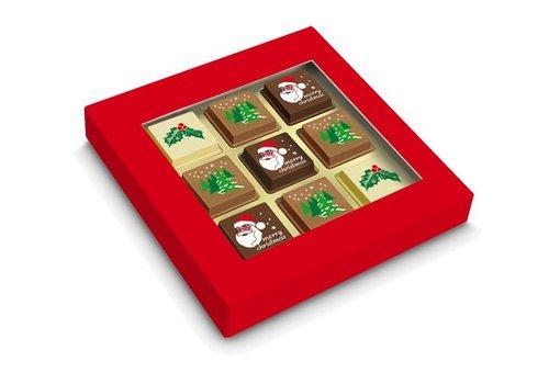 Geschenkdoosje met 9 Sint- of kerstpralines