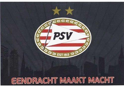 PSV Vlag psv groot 100x150 cm antraciet skyline (1003060008)
