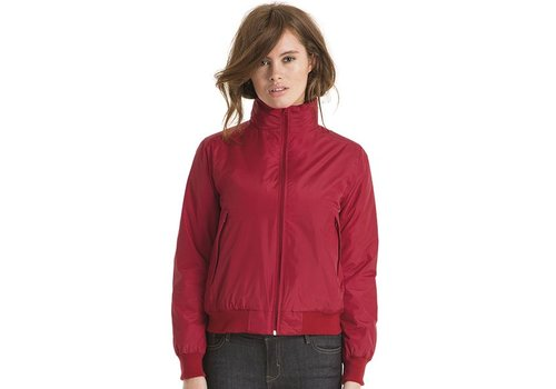 B & C Collection Crew Women Bomber Jacket - JW962