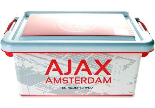 Ajax  Opbergbox plastic ajax wit/rood logo 3.7 liter