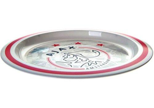 Ajax  Bord plastic ajax wit/rood logo