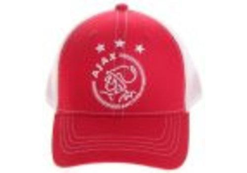 AJAX  Cap ajax senior wit/rood/wit logo (635WRWLOGOSR)