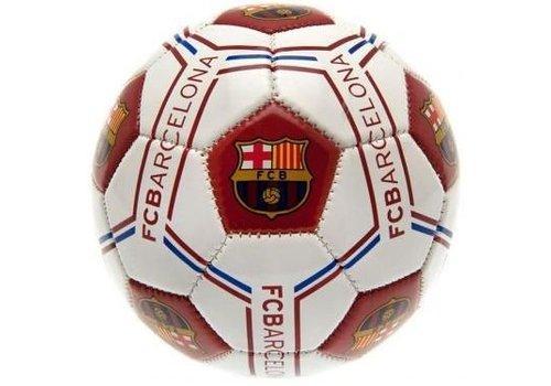 Bal barcelona leer middel wit logo